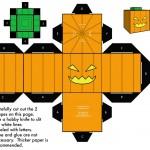 こどもでも簡単!ハロウィンの「かぼちゃのオバケ」をペーパークラフトで作ったよ!