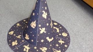 ハロウィンの魔女の帽子の簡単な作り方!こどもと一緒に10分で!
